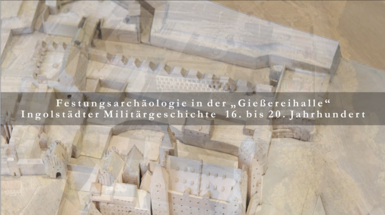 """Festungsarchäologie in der """"Gießereihalle"""""""
